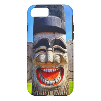 Fun smiling silly laughing teeth wooden face photo iPhone 8/7 case