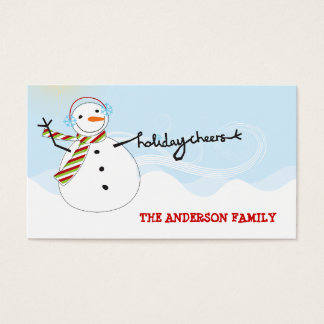 Fun Snowman Cheers Holiday DIY Gift Tag