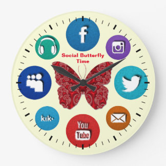 Fun Social Butterfly Time Clock