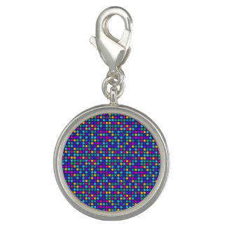 Fun sparkling blue small colorful dots