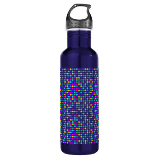 Fun sparkling blue small colorful dots 710 ml water bottle