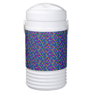 Fun sparkling blue small colorful dots drinks cooler