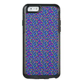 Fun sparkling blue small colorful dots OtterBox iPhone 6/6s case