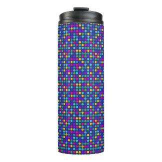 Fun sparkling blue small colorful dots thermal tumbler