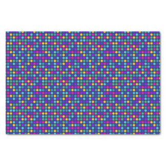 Fun sparkling blue small colorful dots tissue paper