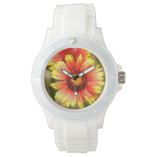 Fun Sporty White Florida Wildflower Watch