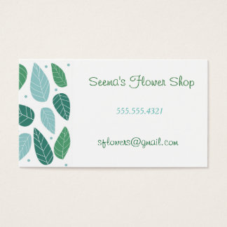 Fun Spring Leaves Business Card