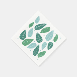 Fun Spring Leaves Disposable Napkins