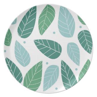 Fun Spring Leaves Plates