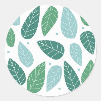 Fun Spring Leaves Round Sticker