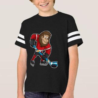 Fun Squatch Bigfoot Hockey Player T-Shirt