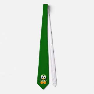 Fun St Patrick's Day Tie Green Cartoon Penguin