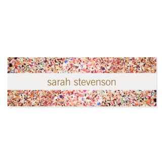 Fun Stripes Colorful Glitter Look Cute Cool Pack Of Skinny Business Cards