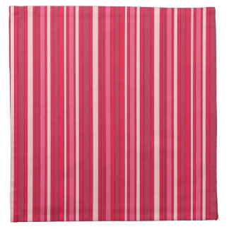Fun Stripes Pattern in Shades of Pink Napkin