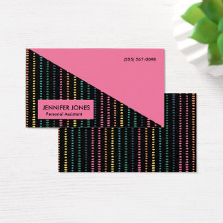 Fun Stripes Personal Assistant Business Cards