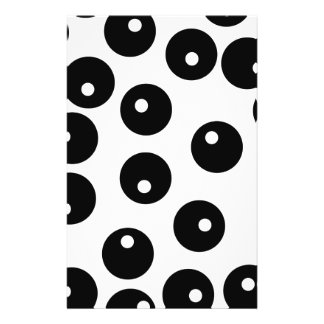 Fun stylish black and white pattern. full color flyer