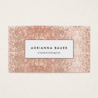 Fun Stylish Faux Copper Sequin Pattern Beauty Spa