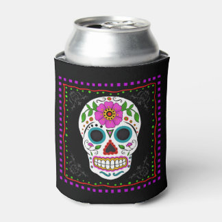 Fun Sugar Skull Can Cooler, Day of the Dead