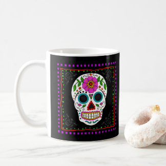 Fun Sugar Skull Mug, Day of the Dead Gift Coffee Mug