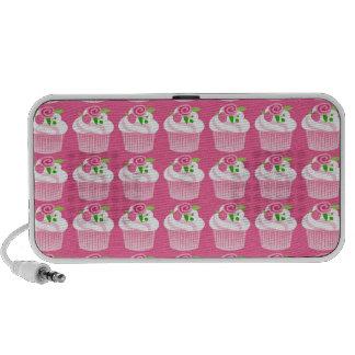Fun Summer Birthday Hot Pink Cupcake Pattern Notebook Speakers