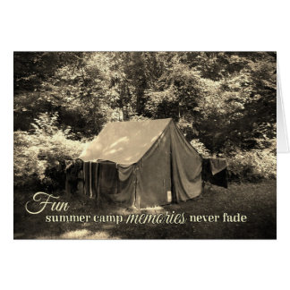 Fun Summer Camp Memories Never Fade-Vintage Tent Card