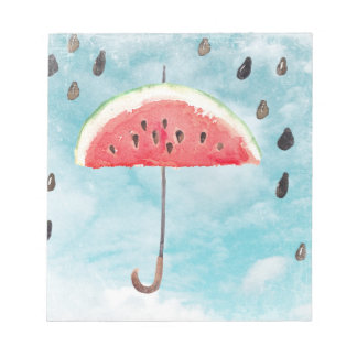 Fun Summer Fresh Melon Fruit Rain Notepad