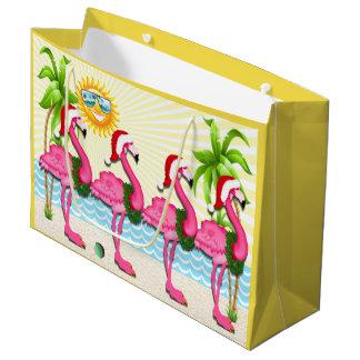 Fun Sun and Pink Flamingo #holidayZ Tote Large Gift Bag