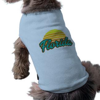 Fun, Sunny Florida Sleeveless Dog Shirt