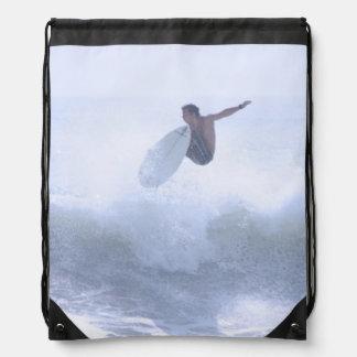 Fun Surfing Drawstring Bag