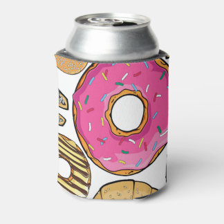Fun Tasty Donuts Design Can Cooler
