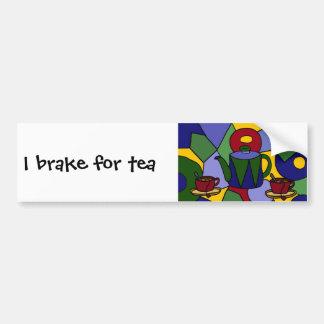 Fun Tea Abstract Art Design Bumper Sticker