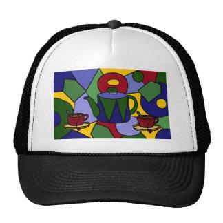 Fun Tea Abstract Art Design Hats
