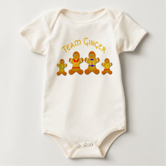 Fun Team Ginger For Lucky Ginger and Redheads Baby Bodysuit