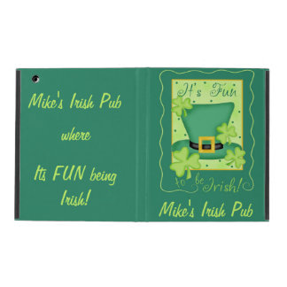 Fun to Be Irish Business Promotion Personalized iPad Case