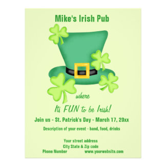 Fun to be Irish St. Patrick's Business Promotion 21.5 Cm X 28 Cm Flyer