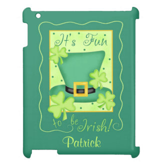 Fun to Be Irish St. Patrick's Name Personalized iPad Covers