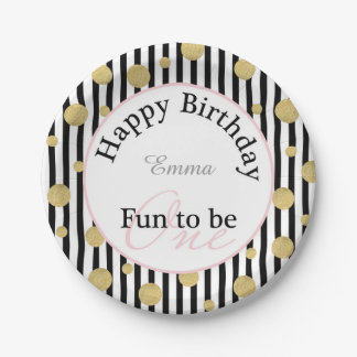 """Fun To Be One Birthday 7"""" Party Plate"""