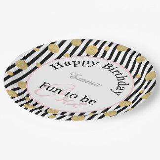 "Fun To Be One Birthday 9"" Party Plate"