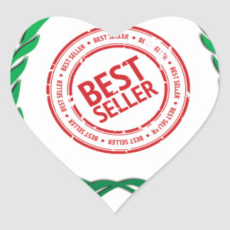 fun top seller best vine heart sticker