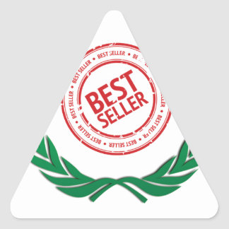 fun top seller best vine triangle sticker