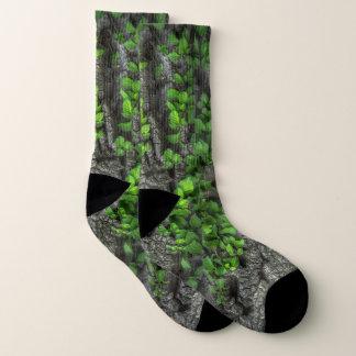 Fun Tree Bark and Ivy Socks