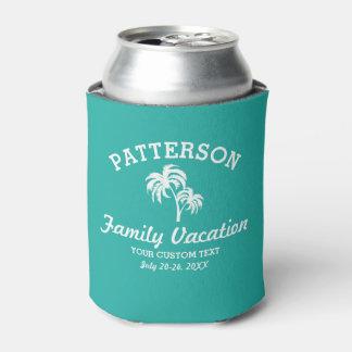 Fun Tropical Palm Tree Retro Summer Beach Travel Can Cooler