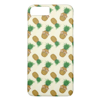 Fun Tropical Pineapple with Sunglasses iPhone 7 Plus Case