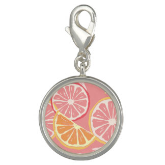 Fun Tropical Pink grapefruit and lemon pattern