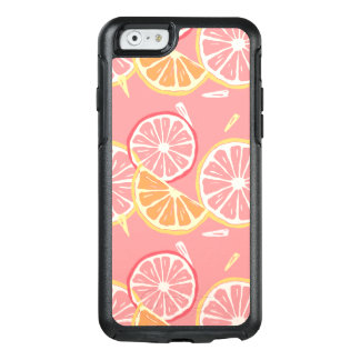 Fun Tropical Pink grapefruit and lemon pattern OtterBox iPhone 6/6s Case