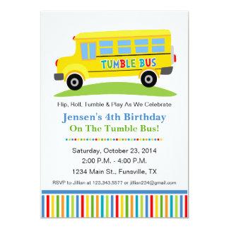 Fun Tumble Bus Birthday Party Invitation