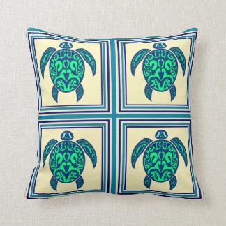 Fun Turtle Tile Throw Pillows