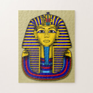 Fun Tutankhamun Funerary Mask Graphic Jigsaw Puzzle
