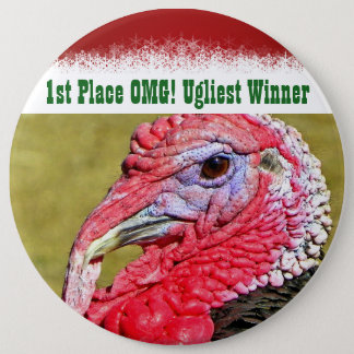 Fun Ugly Christmas Sweater Winner 1st Place Prize 6 Cm Round Badge