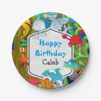 Fun under the sea kids birthday party paper plate